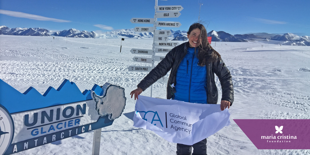 Maria Conceicao at South Pole